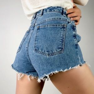 VINTAGE | TALOBOTS High Waisted Cutoff Denim Short